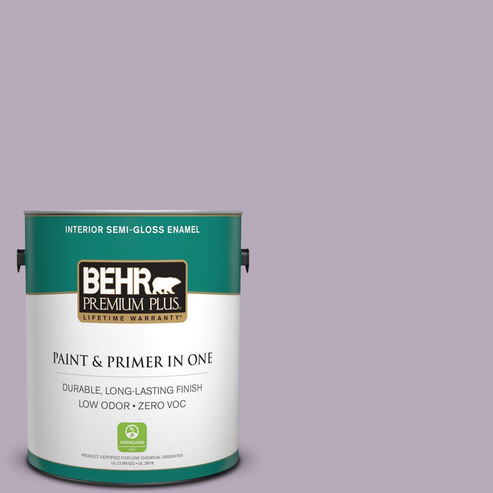 1-gal. #HDC-SP14-12 Exclusive Violet Zero VOC Semi-Gloss Enamel Interior Paint