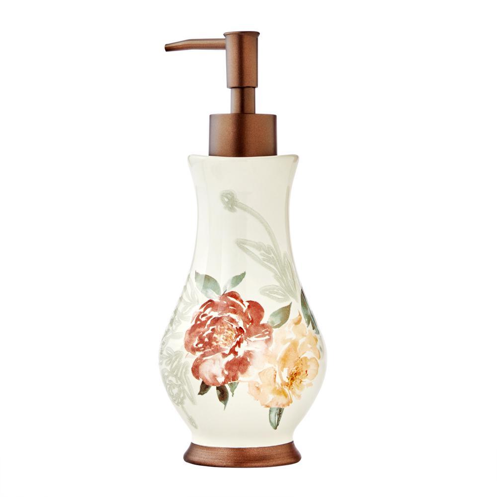 Holland Floral Freestanding Lotion / Soap Dispenser in Natural