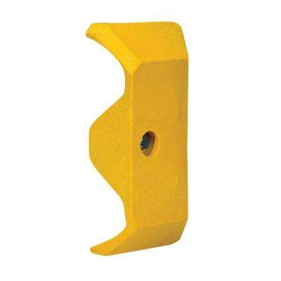 Guard Rail System Yellow Plastic End Cap