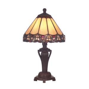 Dale Tiffany 14 In Peacock Antique Bronze Accent Lamp 8034 640 The Home Depot