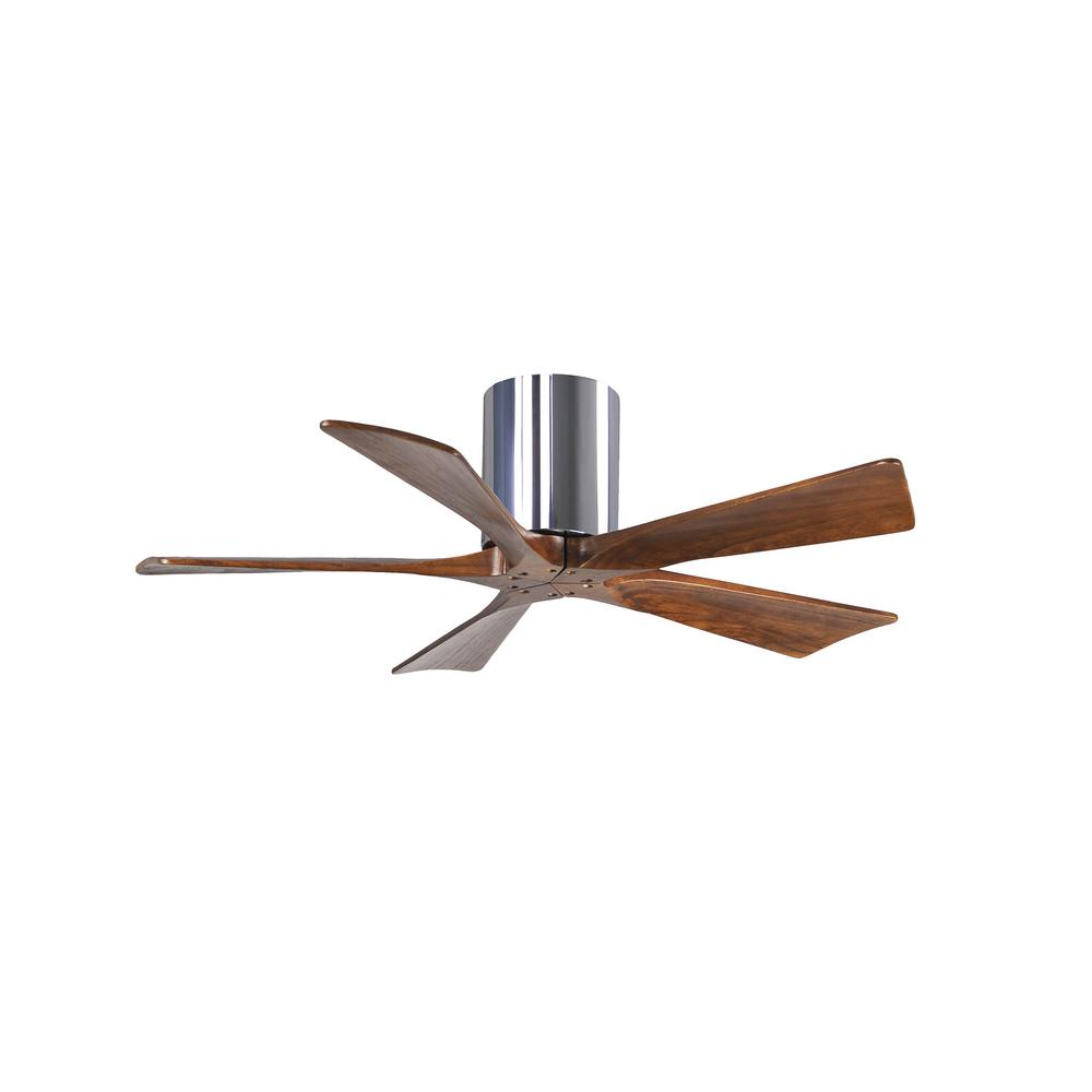 Atlas Irene 42 in. Indoor/Outdoor Polished Chrome Ceiling Fan with Remote Control and Wall Control