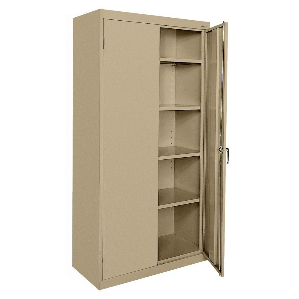 D Steel Freestanding Storage Cabinet With Adjule Shelves In Tropic Sand Ca41361872 04 The Home Depot