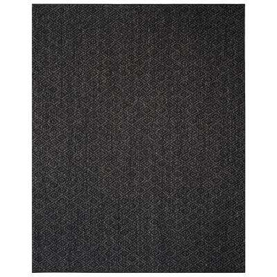 Palm Beach Charcoal 8 ft. x 10 ft. Area Rug
