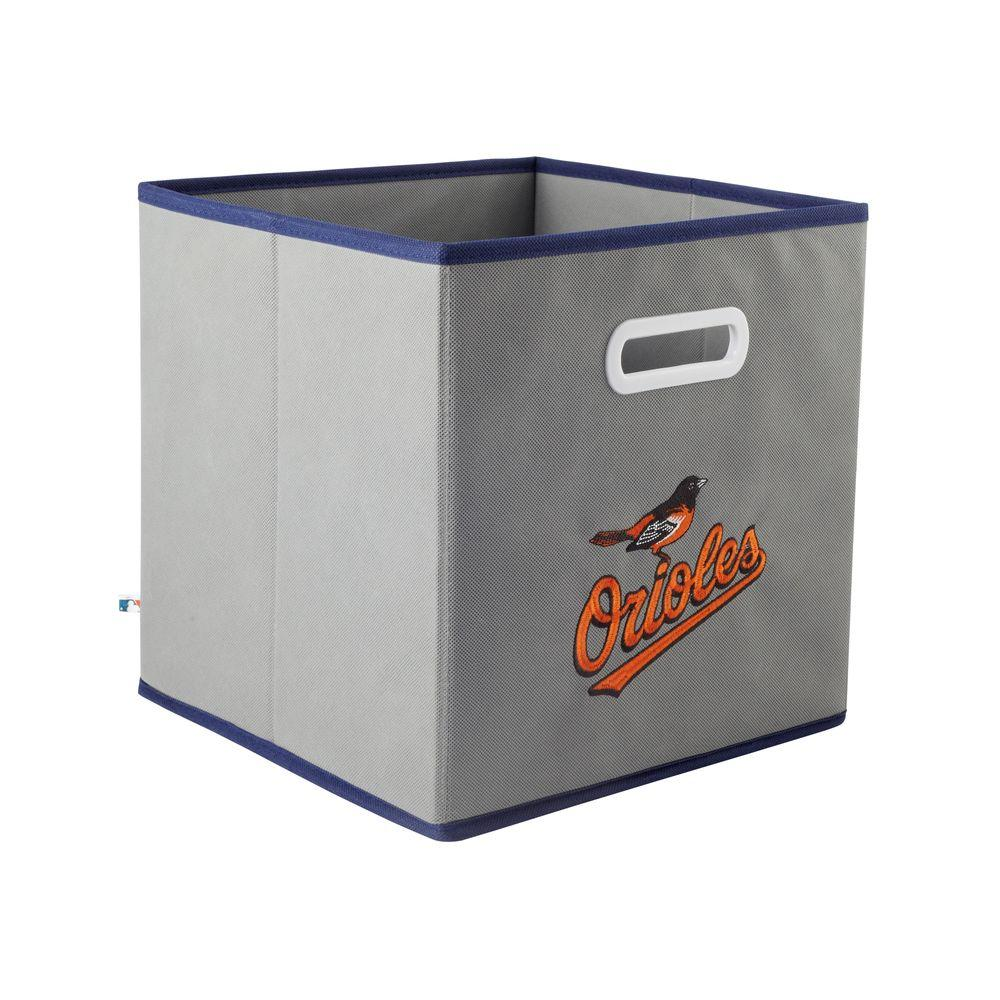 MyOwnersBox MLB STOREITS Baltimore Orioles 10-1/2 in. x 10-1/2 in. x 11 in. Grey Fabric Storage Drawer