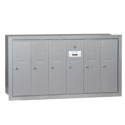 Aluminum Recessed-Mounted USPS Access Vertical Mailbox with 6 Doors