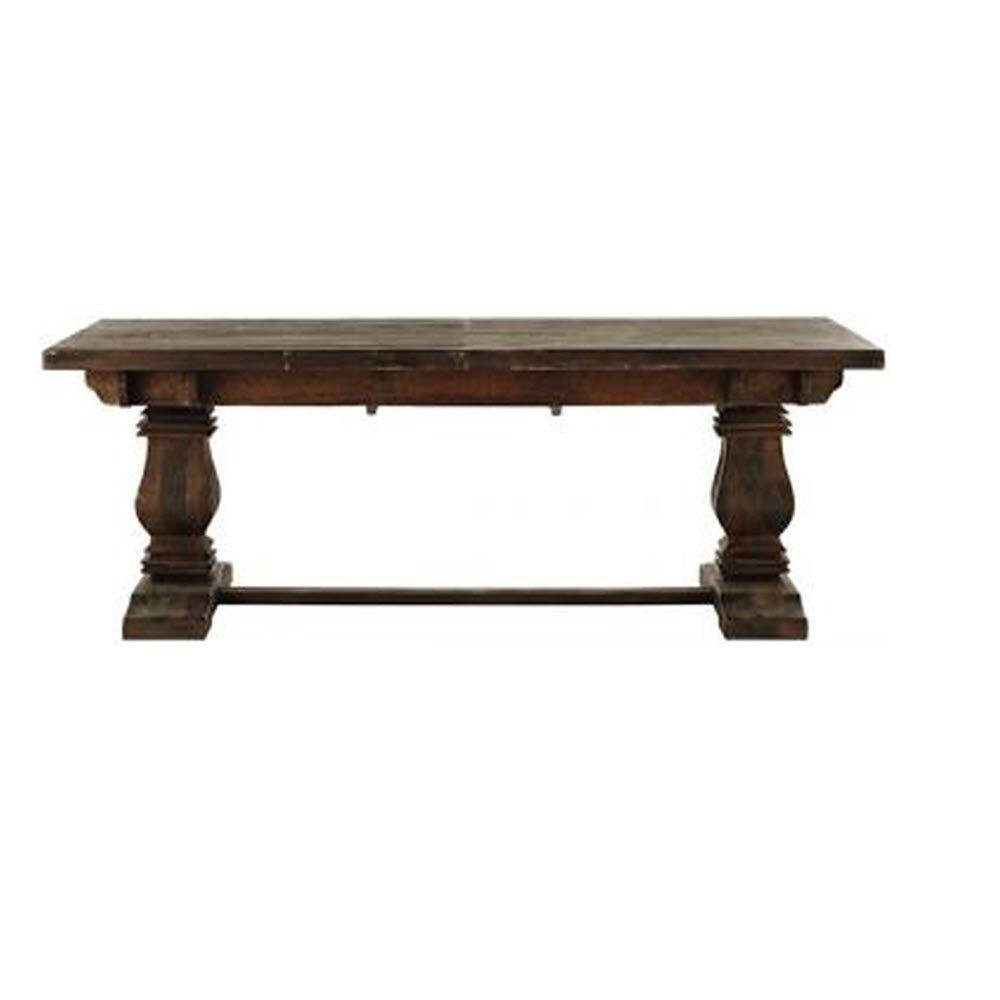 Home Decorators Collection Aldridge Antique Walnut Extendable Dining Table Nb023aw The Home Depot