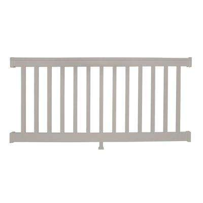 Vanderbilt 3.5 ft. H x  8 ft. W Tan Vinyl Railing Kit