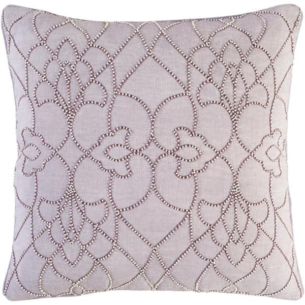 Romilly Purple Graphic Polyester 22 in. x 22 in. Throw Pillow