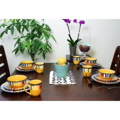 Fandango 16-Piece Yellow Dinnerware Set
