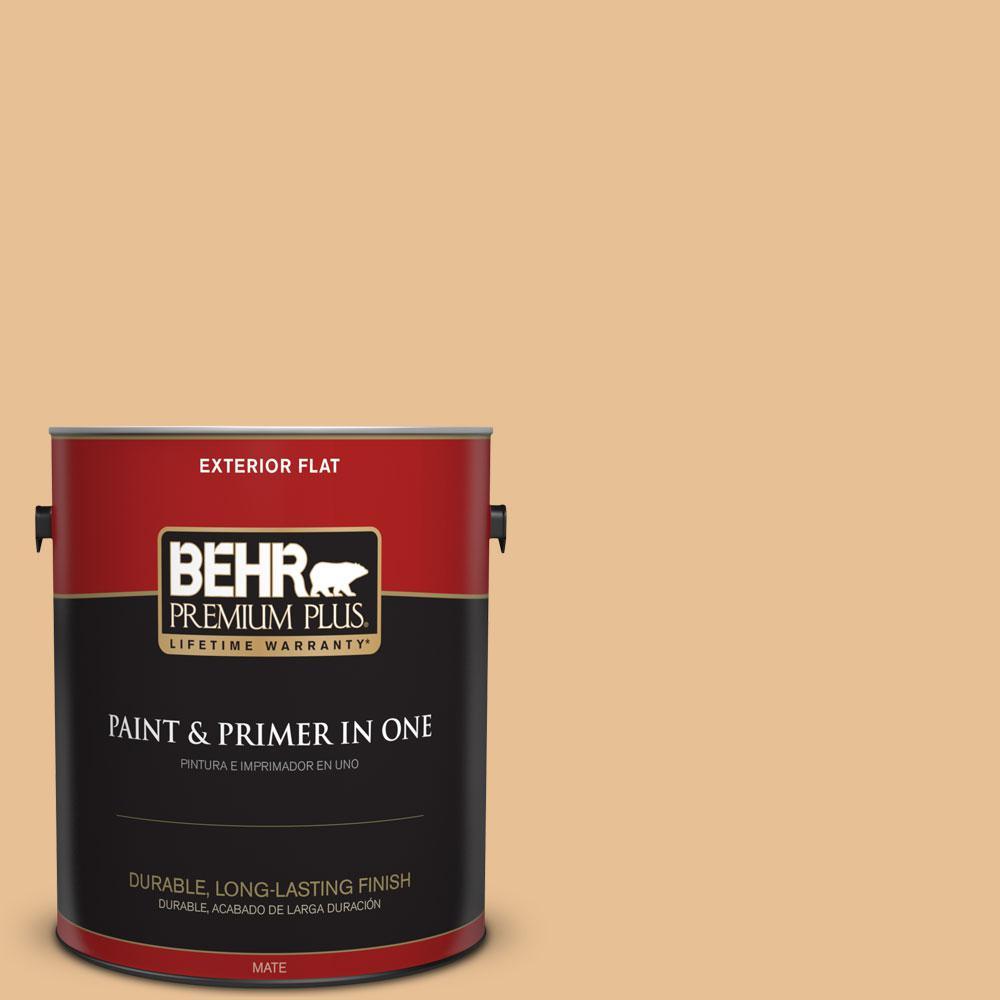 BEHR Premium Plus 1-gal. #M250-3 Apple Turnover Flat Exterior Paint