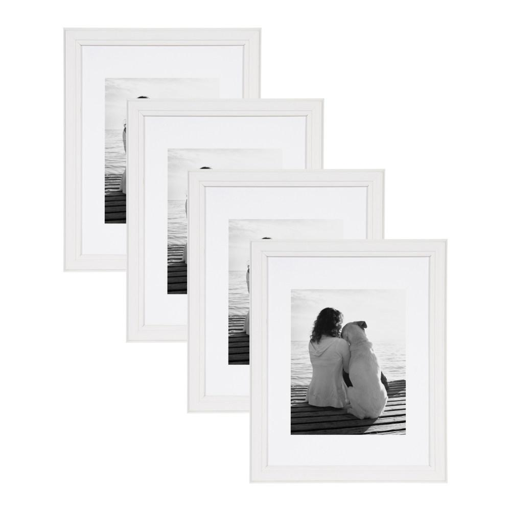 Designovation Kieva 11x14 Matted To 8x10 White Picture Frame Set Of