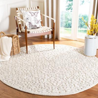 Trace Camel/Ivory 6 ft. x 6 ft. Round Area Rug