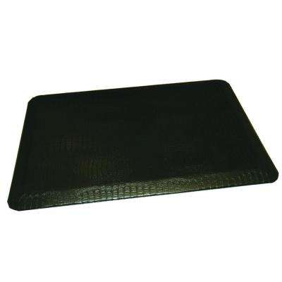 Comfort Craft Crocodile Black 24 in. x 72 in. Poly-Urethane Anti-Fatigue Kitchen Mat