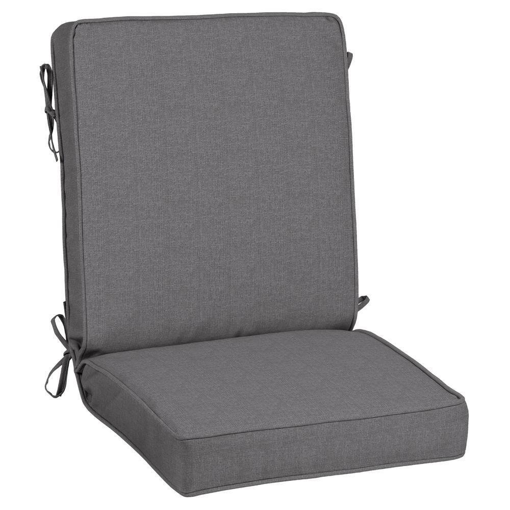 Sunbrella Cast Slate Outdoor Dining Chair Cushion