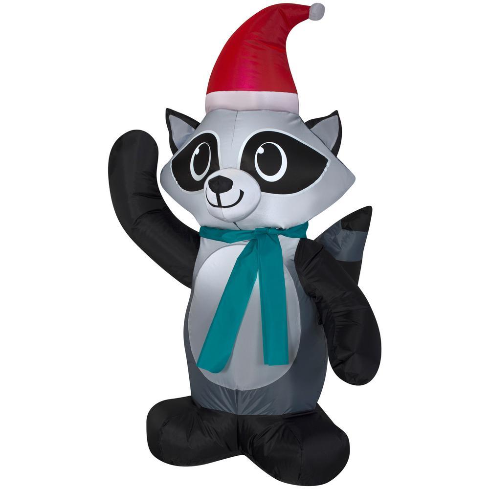 3.5 ft. Raccoon Christmas Inflatable
