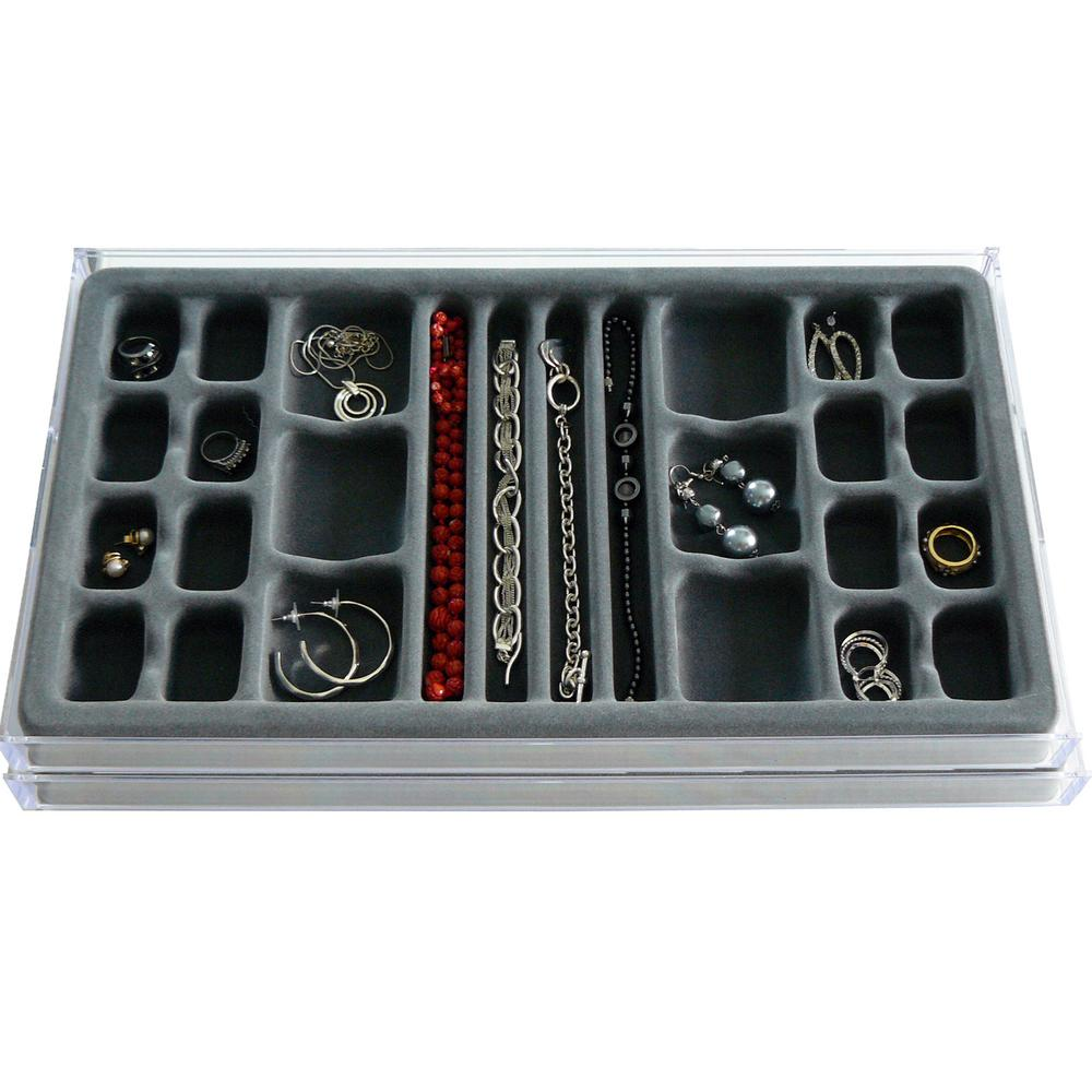 Axis International 26-Compartment Stack EM Catch-All Jewelry Organizer (2-Pack