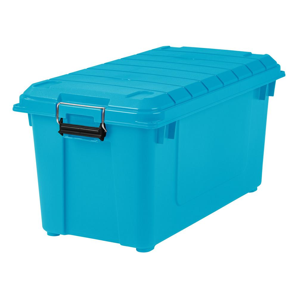 IRIS 82 Qt. Weathertight Store It All Storage Bin In Teal (4