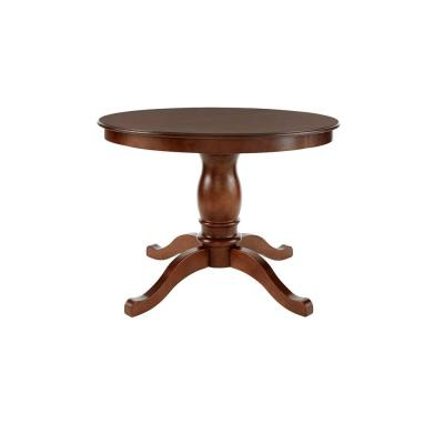 Walnut Finish Round Dining Table for 4 (41.7 in. L x 29 in. H)