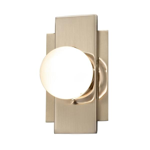 Fusion Luna ADA 3.5 in. Brushed Brass LED Wall Sconce with Clear Glass Shade
