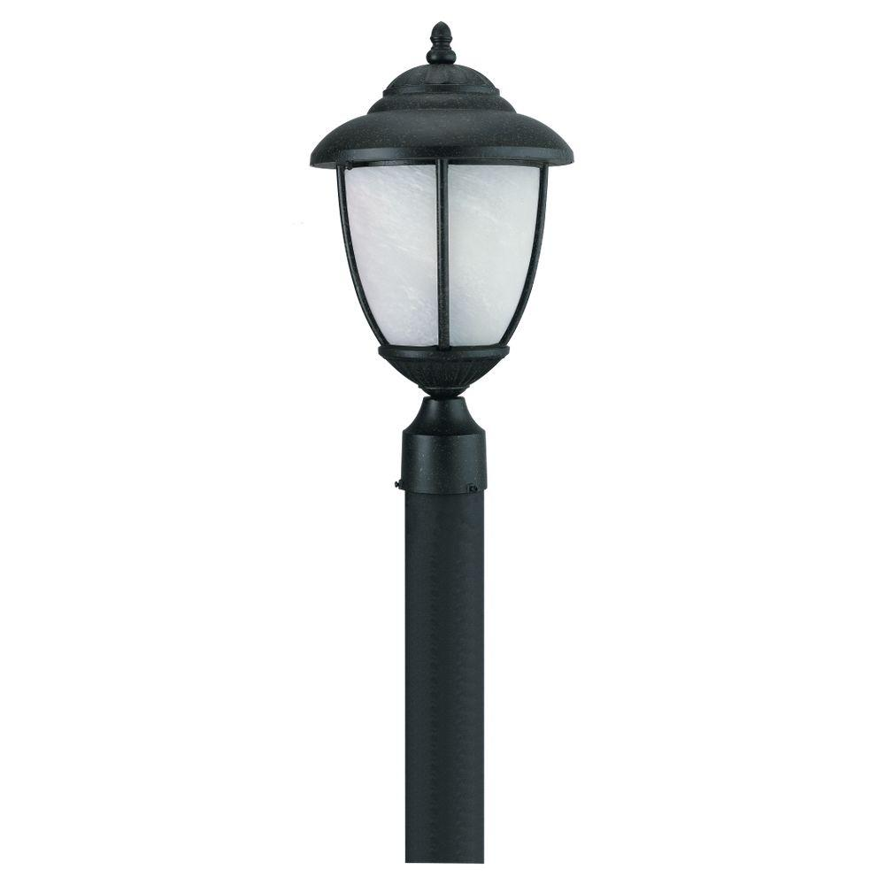 Yorktown 1-Light Outdoor Black Post Top