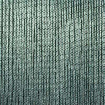 Thanos Teal Grasscloth Wallpaper Sample