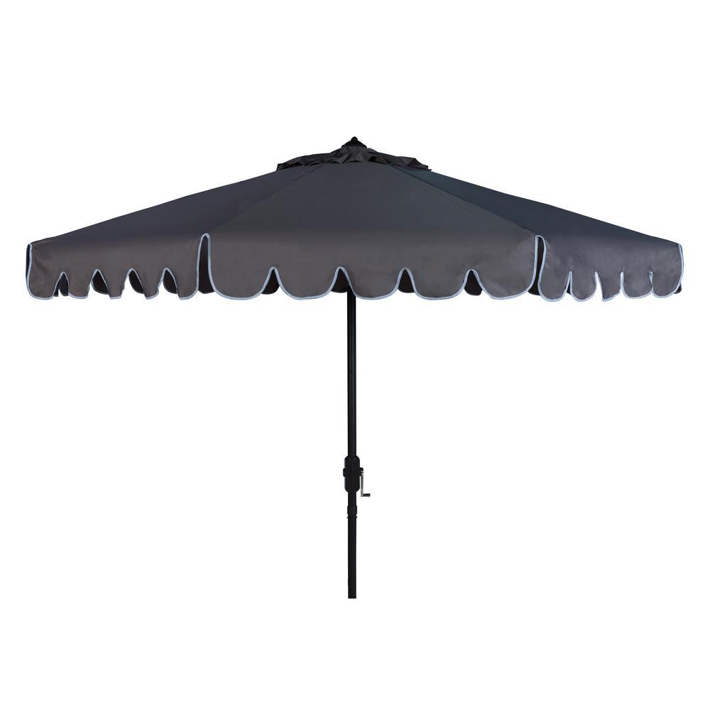 Venice 9 ft. Aluminum Market Tilt Patio Umbrella in Taupe/White