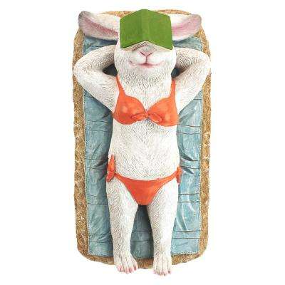 4.5 in. H Beach Bunny Soaking Up Some Rays Rabbit Garden Statue