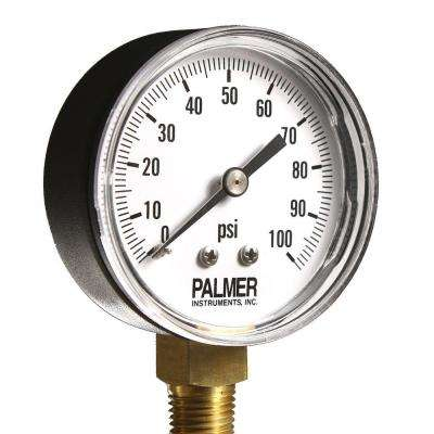 2.5 in. Dial 100 psi Painted Steel Case Utility Gauge