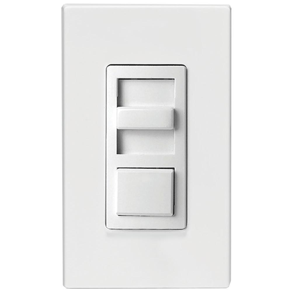IllumaTech 150-Watt Single-Pole and 3-Way Incandescent-CFL-LED Slide Dimmer, White