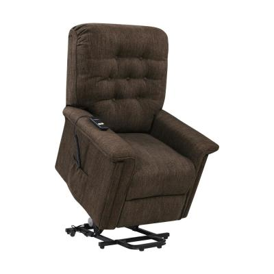 Power Recline and Lift Chair in Chocolate Brown Herringbone