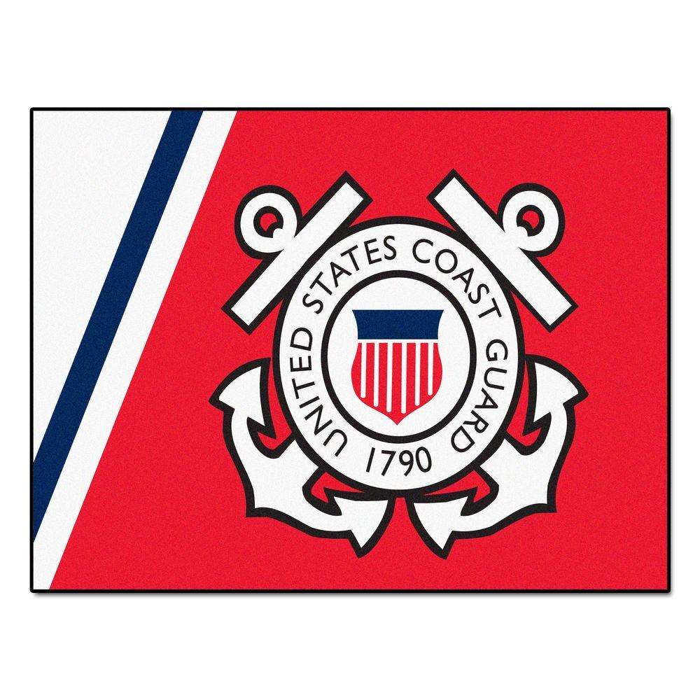 Fanmats U S Coast Guard 2 Ft 10 In X 3 Ft 9 In All