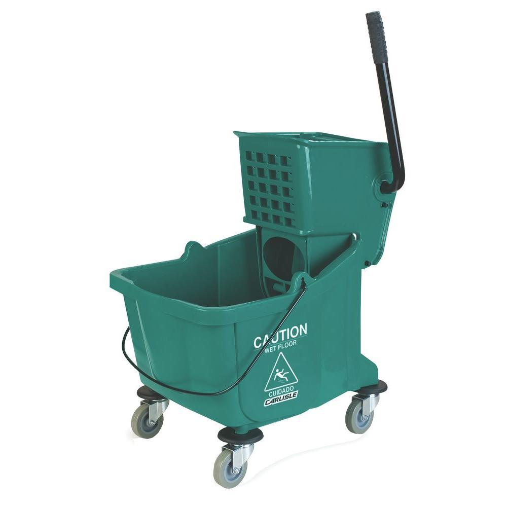 35 qt. Green Wringer Mop Bucket