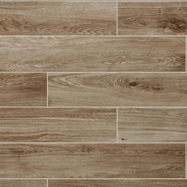 Trace Meadow Golden Brown 6 in. x 36 in. Glazed Porcelain Floor and Wall Tile (348 sq. ft./Pallet)