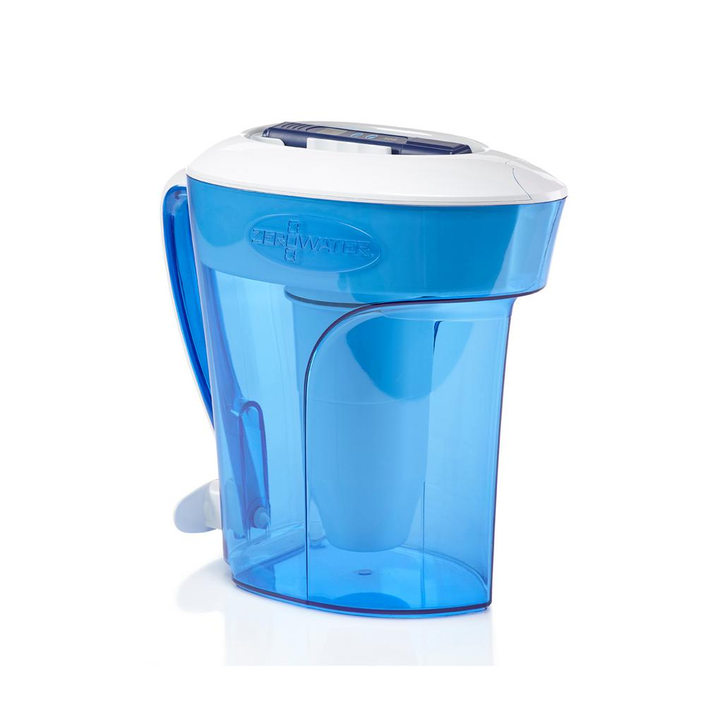 ZP-010 10-Cup Water Filter Pitcher, Blues