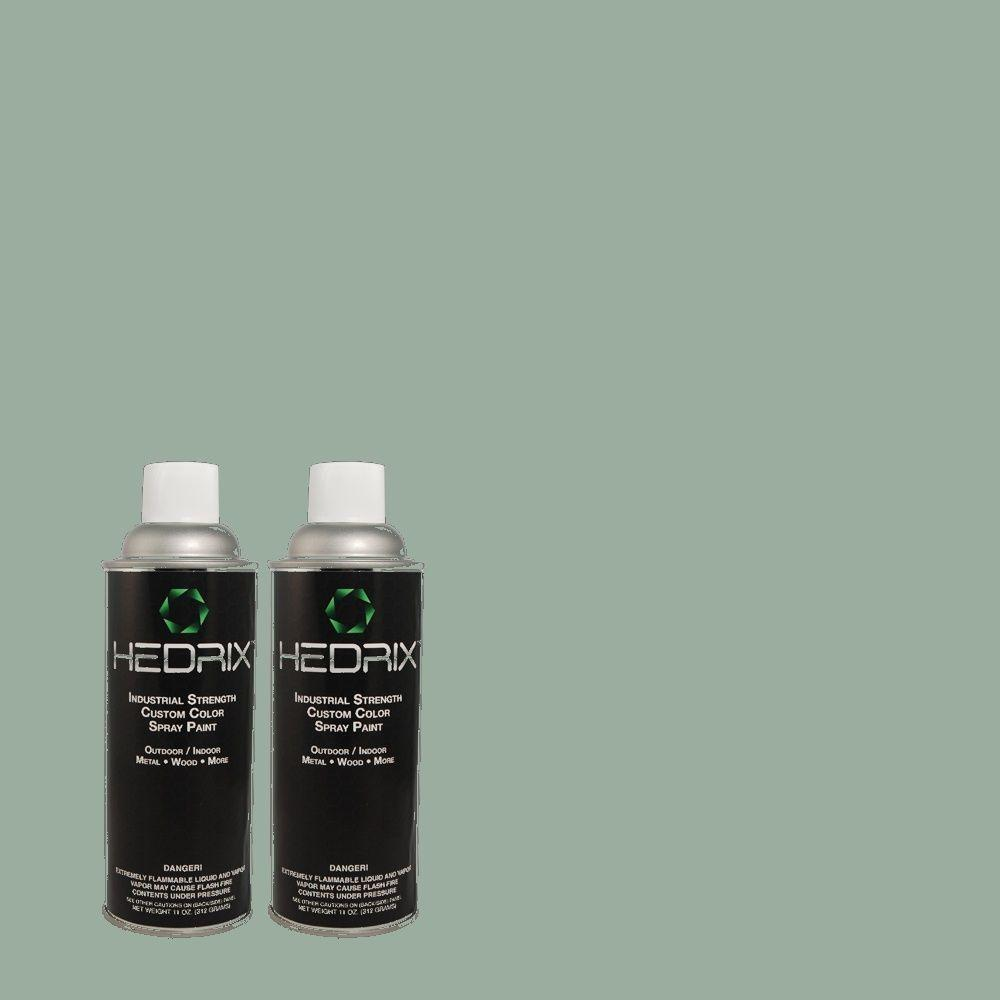 Hedrix 11 oz. Match of PPOC-52 Pacific Heights Semi-Gloss Custom Spray Paint (2-Pack)