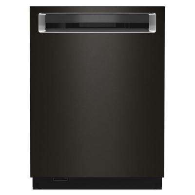 24 in. Top Control Built-in Tall Tub Dishwasher in Black Stainless with Stainless Steel Tub and Third Level Rack
