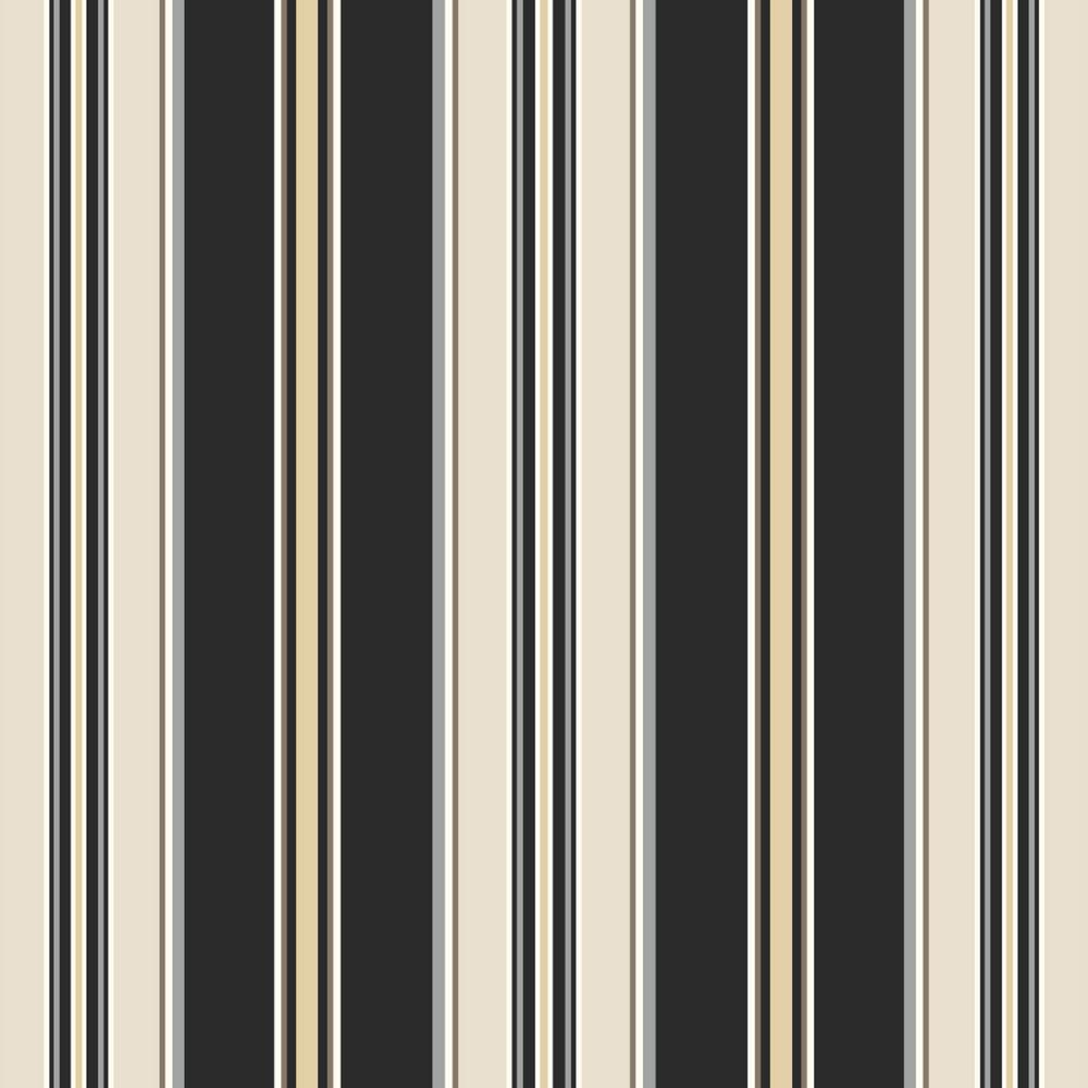 Black Stripe Outdoor Fabric