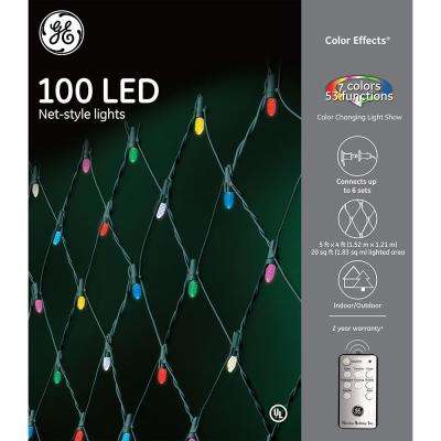 Color Effects RF Controlled Light Show- 100-Light 8 mm Faceted String Set