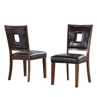 Toulon Contemporary DarK Brown Side Chair  (Set of 2)