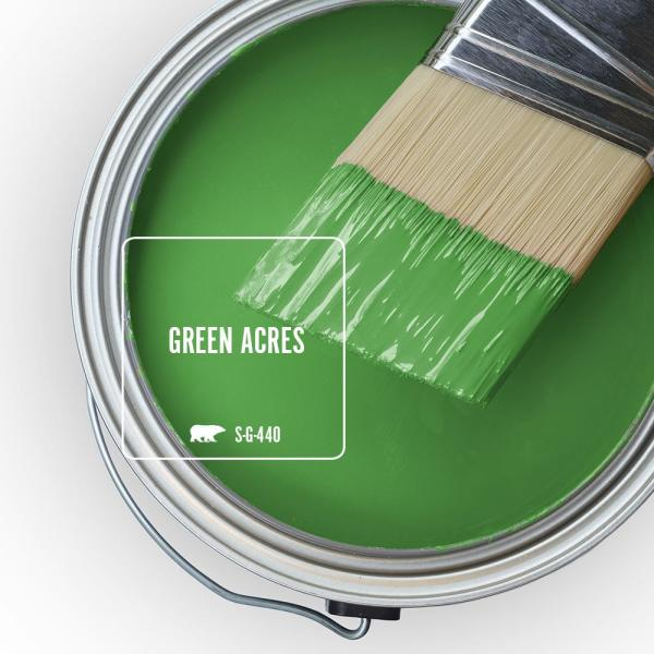 Reviews For Behr Ultra 1 Qt S G 440 Green Acres Extra Durable Eggshell Enamel Interior Paint Primer 275304 The Home Depot