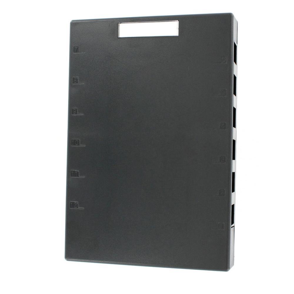 12-Port QuickPort Surface Mount Box, Black