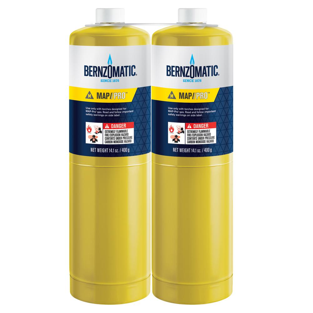 Bernzomatic Map Pro Bernzomatic 14.1 oz. Map Pro Cylinders (2 Pack) 378111   The Home