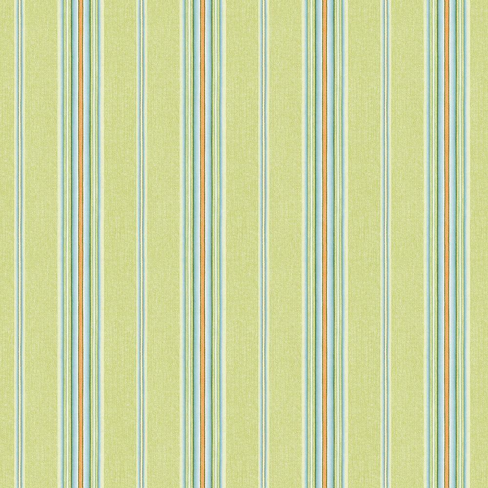 Chesapeake Kylie Green Cabin Stripe Wallpaper