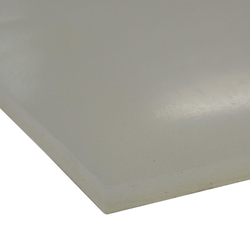 Rubber-Cal Silicone 1/4 in. x 12 in. x 12 in. Translucent Commercial Grade 60A Rubber Sheet
