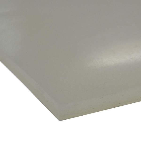 Silicone 1/8 in. x 24 in. x 12 in. Translucent Commercial Grade Translucent 60A Rubber Sheet