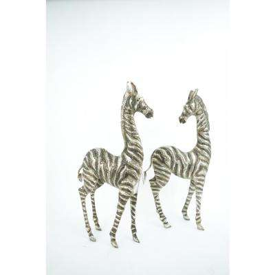 Set of 2 Zebra Garden Statues