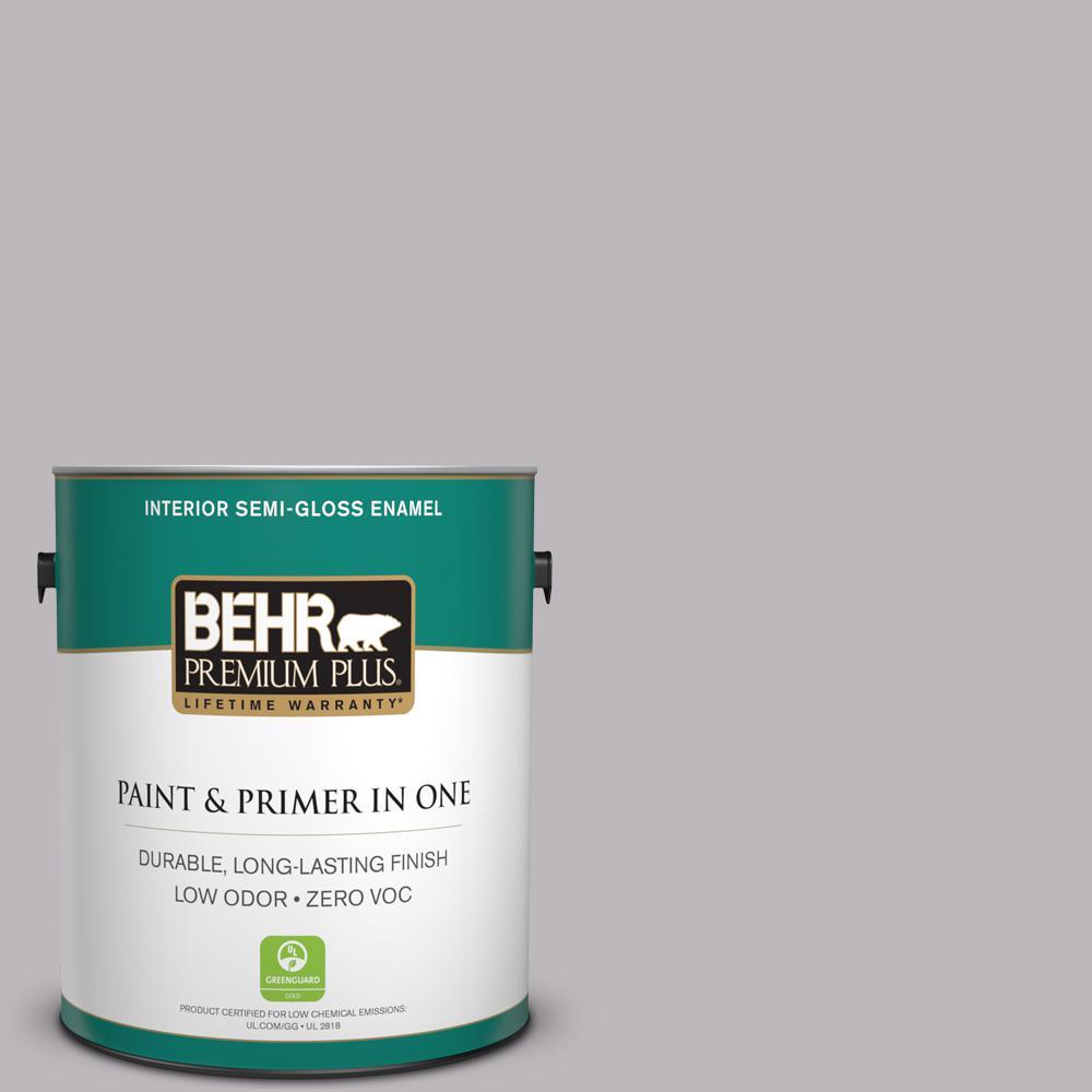 1 gal. #PPU16-10 French Lilac Zero VOC Semi-Gloss Enamel Interior Paint
