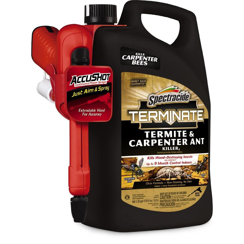 Spectracide Terminate 1.3 Gal. AccuShot Ready-to-Use Termite and Carpenter Ant Killer Spray