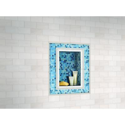 Whisper White Quarter Round Molding 5/8 in. x 6 in. Glossy Ceramic Floor and Wall Tile (2.5 lin. ft. / case)