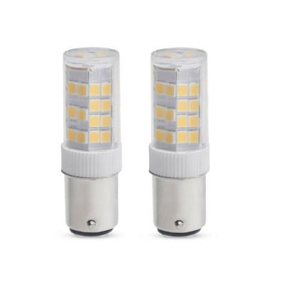 35-Watt Equivalent T4 Dimmable Double-Contact Bayonet LED Light Bulb Soft White (2-Pack)